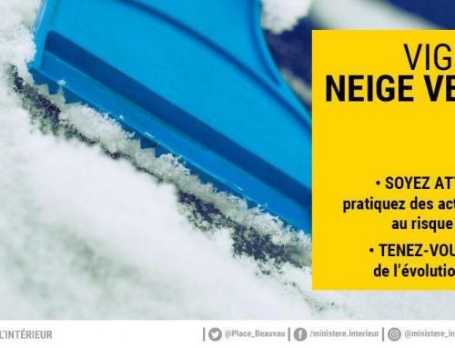 Vigilance météo : Neige-Verglas-Baisse des températures