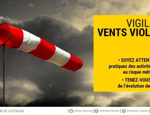 Alerte météo : Vent violent