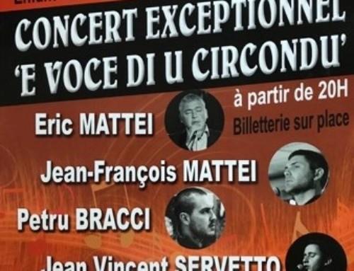 «E Voce di u circondu» : Un concert exceptionnel !