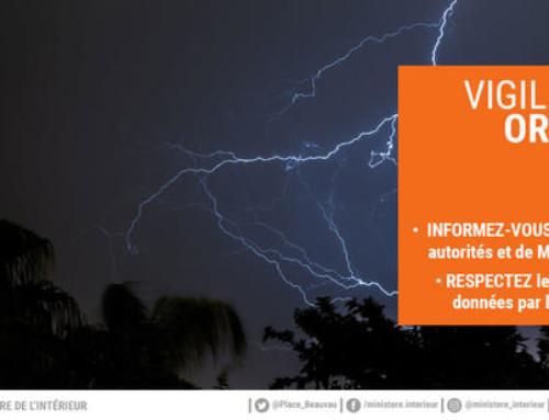 Alerte Orange : orages et pluie-inondation
