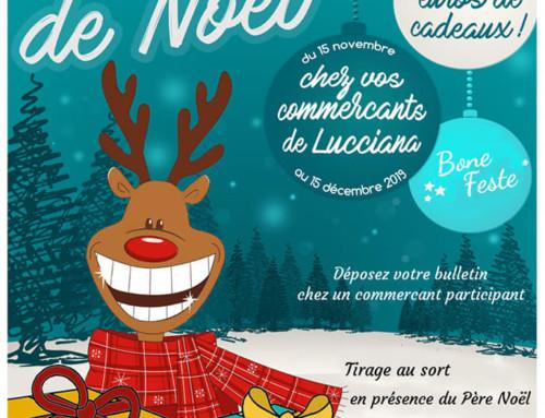 Grande Loterie de Noël chez vos commerçants de Lucciana
