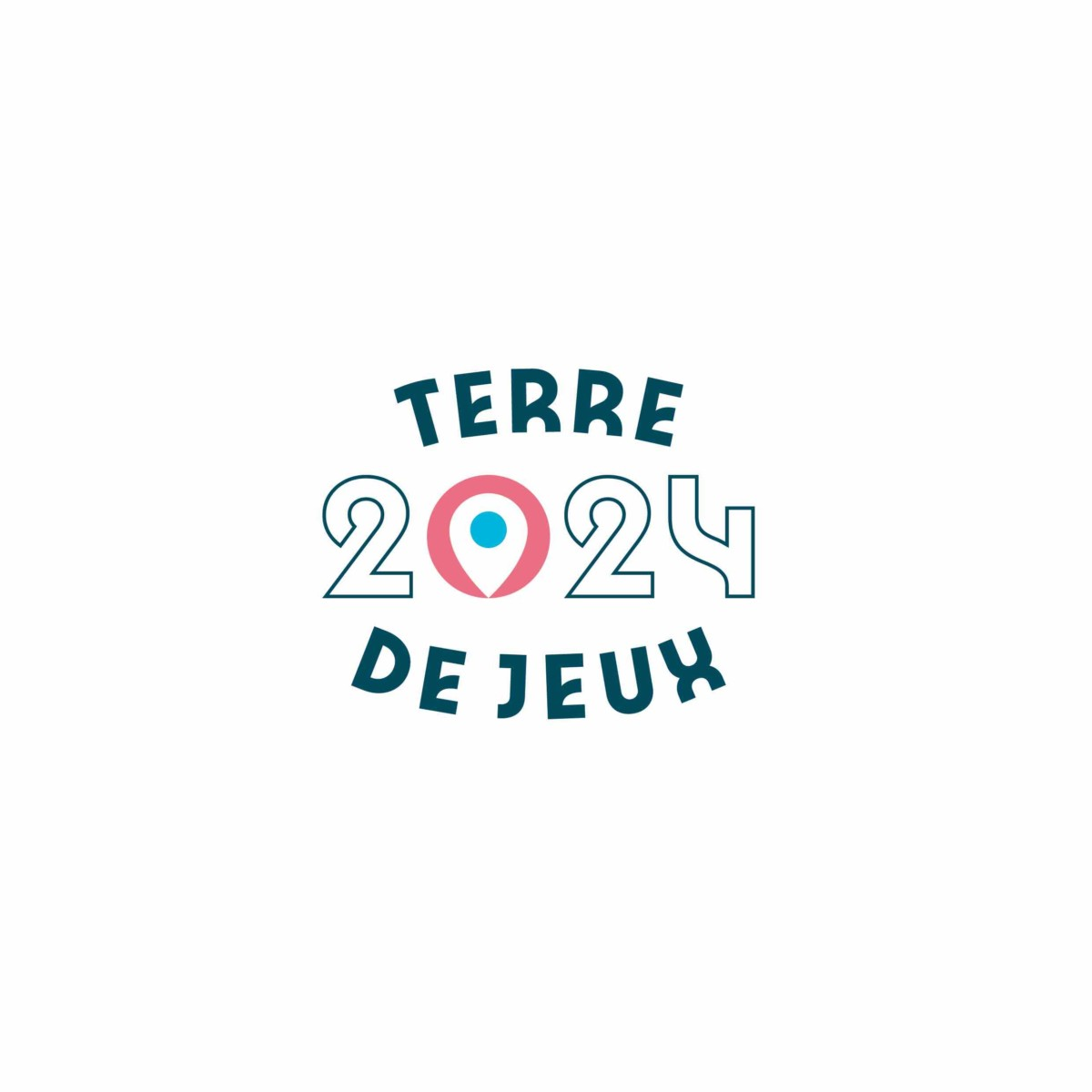 Terre de Jeux 2024 - Logotype - Poly - pod_blanc - RVB