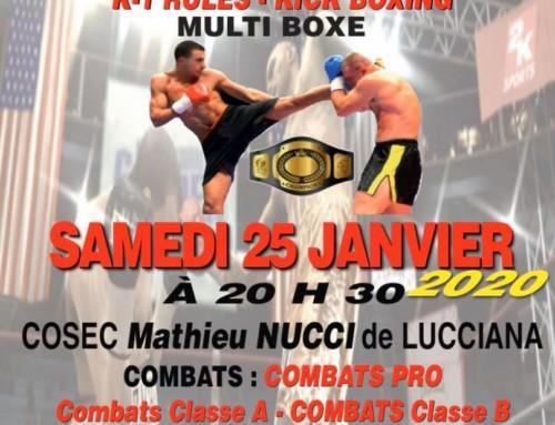 Le Grand Gala de Boxe 2020 du KBC Lucciana