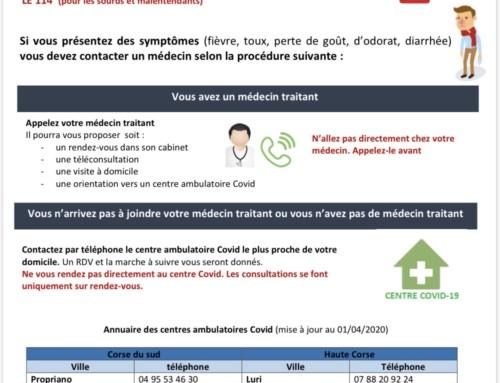 COVID_19 : Fiche pratique, consultation ou suivi en ambulatoire