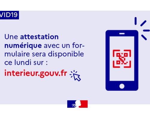 L'attestation de déplacement disponible sur smartphone à partir du lundi 6 avril 2020