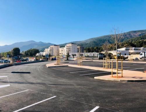 Ouverture des nouveaux parkings de l'école de Crucetta