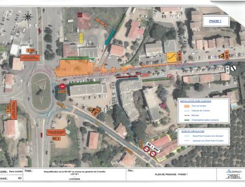 Informations Travaux : Requalification de la RD107 au niveau du giratoire de Crucetta