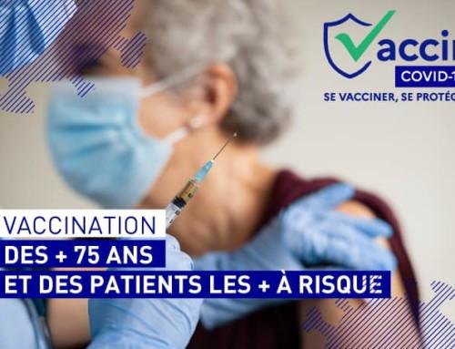 Vaccination des + de 75ans et des patients les + à risque
